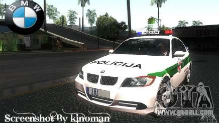BMW 330 E90 Policija for GTA San Andreas