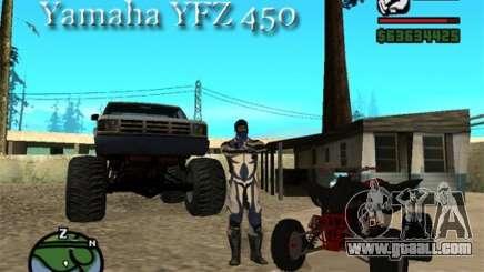 Yamaha YFZ450 for GTA San Andreas