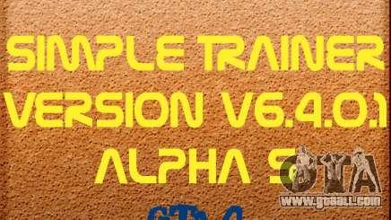 Simple Trainer Version v6.4.0.1 alpha 5 for GTA 4