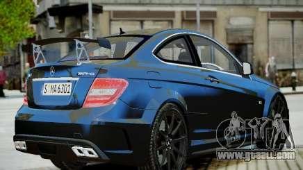 Mercedes-Benz C63 AMG Black Series 2012 v1.0 for GTA 4