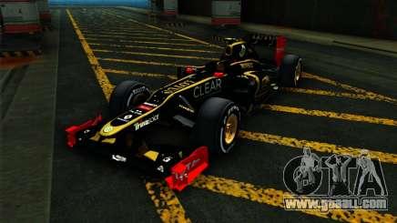 Lotus E20 F1 2012 for GTA San Andreas