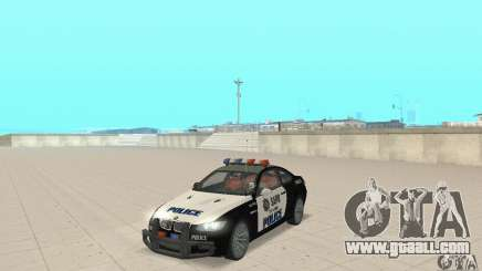 BMW M3 E92 Police for GTA San Andreas
