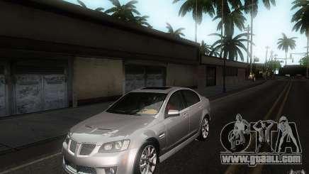 Pontiac G8 GXP 2009 for GTA San Andreas