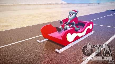 Santa Sled normal version for GTA 4
