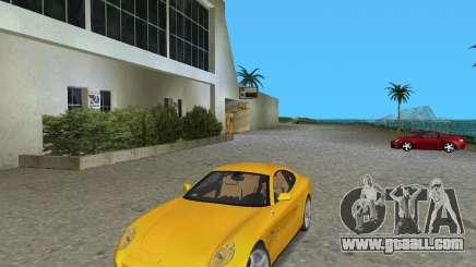 Ferrari 612 Scaglietti жёлтый for GTA Vice City