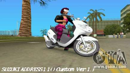 Suzuki Address 110 Custom Ver.1.3 for GTA Vice City