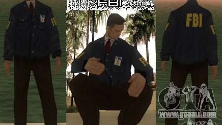 HQ skin FBI for GTA San Andreas