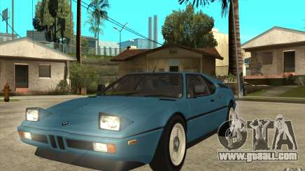 BMW M1 1981 for GTA San Andreas
