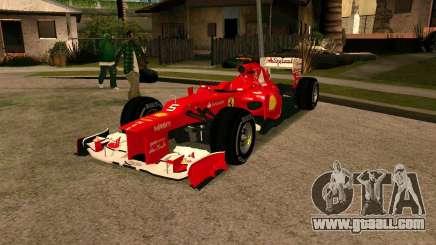 Ferrari Scuderia F2012 for GTA San Andreas