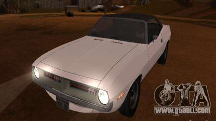 Plymouth Barracuda Rag Top 1970 for GTA San Andreas