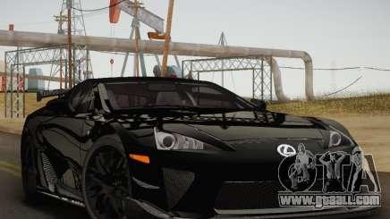 Lexus LFA Nürburgring Performance Package 2011 for GTA San Andreas