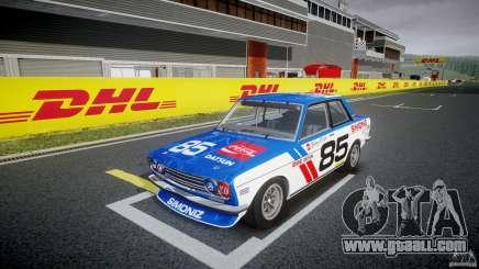 Datsun Bluebird 510 1971 BRE for GTA 4