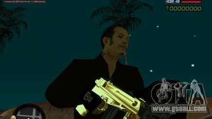 Tec 9 GOLD for GTA San Andreas