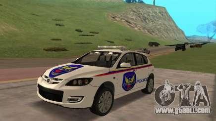 Mazda 3 Police for GTA San Andreas