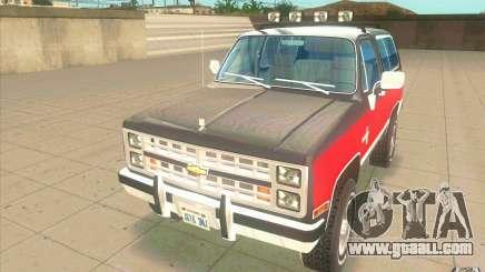 Chevrolet Blazer K5 Stock 1986 for GTA San Andreas