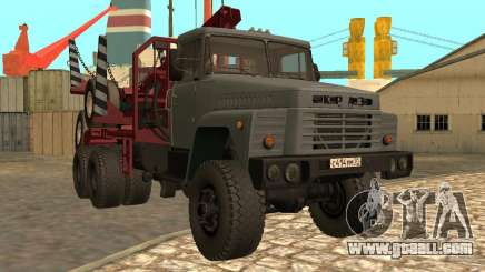 KrAZ-255 timber carrier for GTA San Andreas