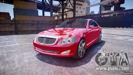 Mercedes Benz w221 s500 v1.0 cls amg wheels for GTA 4