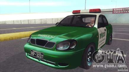 Daewoo Lanos De Carabineros De Chile for GTA San Andreas