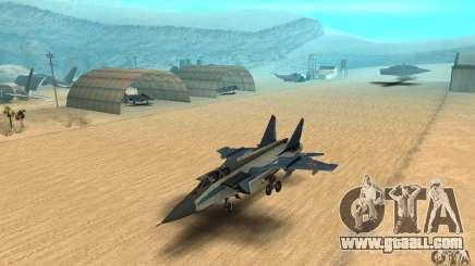 MiG-31 Foxhound for GTA San Andreas