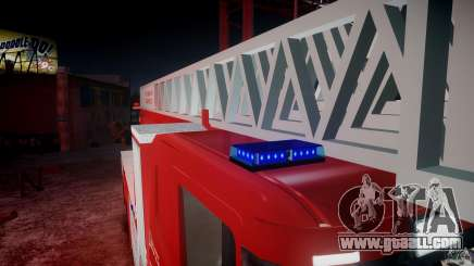 Scania Fire Ladder v1.1 Emerglights blue-red [ELS] for GTA 4
