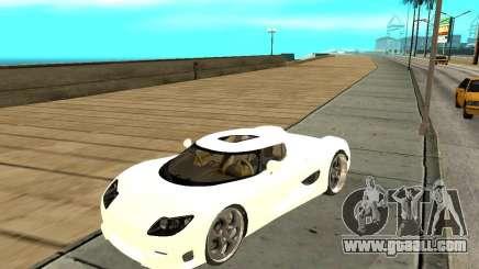 Koenigsegg CCRT for GTA San Andreas