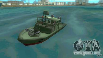 Patrol Boat River Mark 2 (Player_At_Wheel) for GTA Vice City