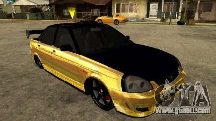Lada 2170 Priora GOLD for GTA San Andreas