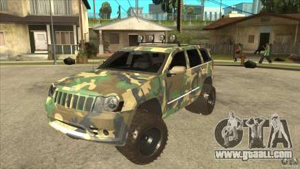 Jeep Grand Cherokee SRT8 Camo for GTA San Andreas