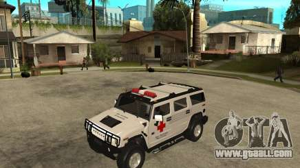 AMG H2 HUMMER - RED CROSS (ambulance) for GTA San Andreas