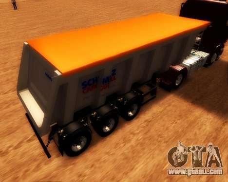 Trailer Schmitz Cargo Bull for GTA San Andreas left view