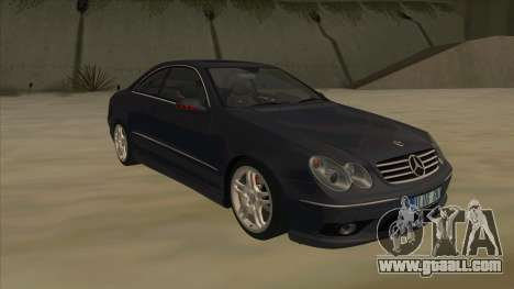 Mercedes-Benz CLK55 AMG 2003 for GTA San Andreas back view