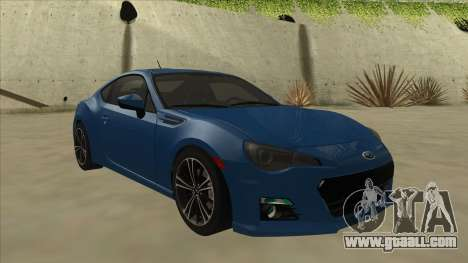 Subaru BRZ 2013 Tunable for GTA San Andreas