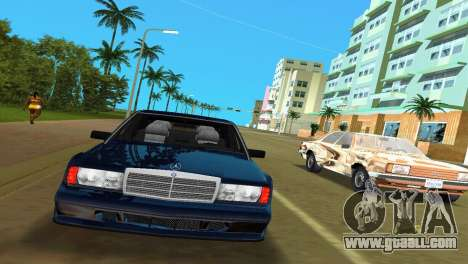 Mercedes-Benz 190E 1990 for GTA Vice City left view