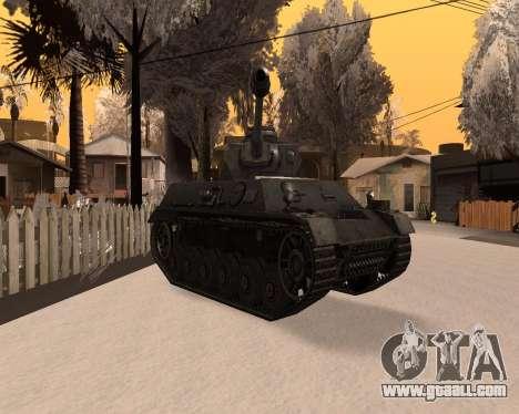 Panzerkampfwagen for GTA San Andreas right view