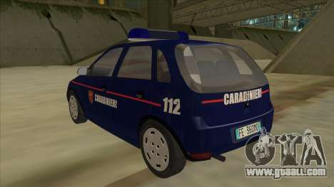 Opel Corsa 2005 Carabinieri for GTA San Andreas back view