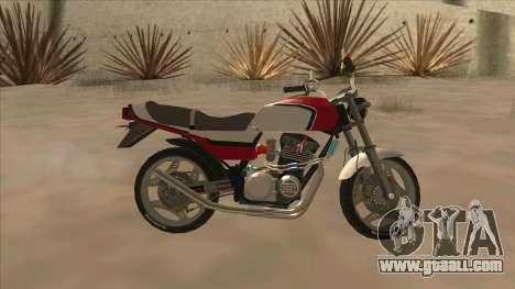Honda CBX400F for GTA San Andreas left view