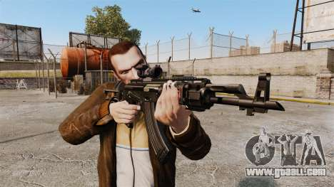 Kalashnikov AK-47 Sopmod for GTA 4 third screenshot