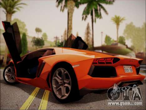 Lamborghini Aventador LP700 for GTA San Andreas right view