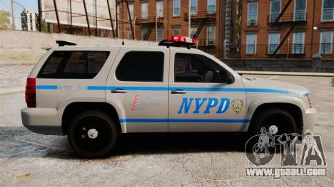 Chevrolet Tahoe 2007 NYPD [ELS] for GTA 4 left view