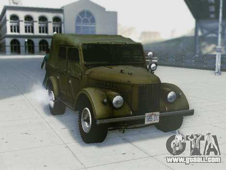 UAZ-69A for GTA San Andreas back view