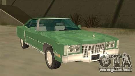 Cadillac Eldorado for GTA San Andreas left view
