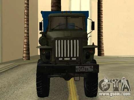 Ural 4320 Tonar for GTA San Andreas back view