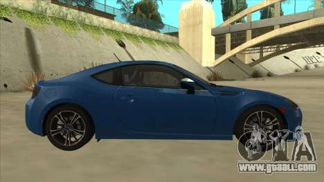 Subaru BRZ 2013 Tunable for GTA San Andreas back left view