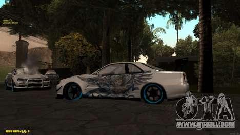 Nissan Skyline GTR 34 CIAY for GTA San Andreas right view
