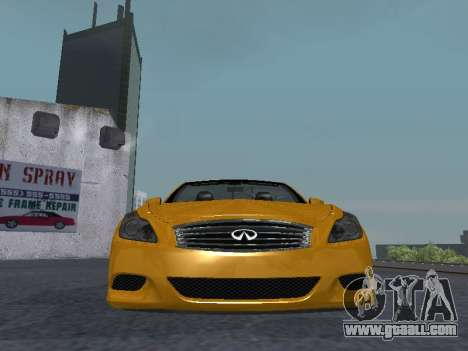 Infiniti G37 S Cabriolet for GTA San Andreas inner view