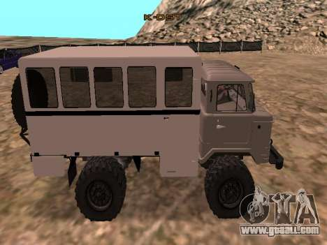 GAZ 66 Watch for GTA San Andreas left view