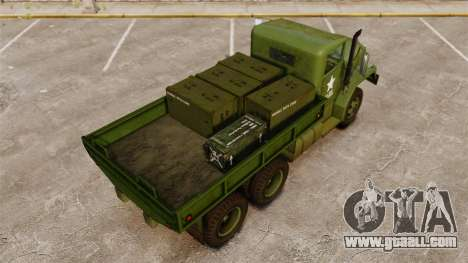 Basic military truck AM General M35A2 1950 for GTA 4 engine