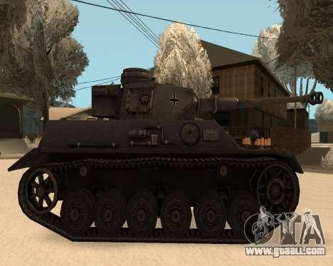 Panzerkampfwagen for GTA San Andreas back left view