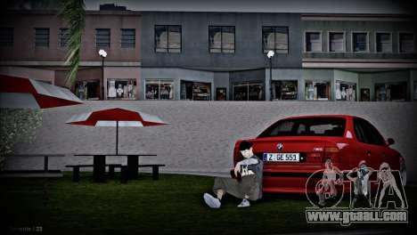 BMW 5-er E34 for GTA San Andreas inner view