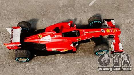Ferrari F138 2013 v1 for GTA 4 right view